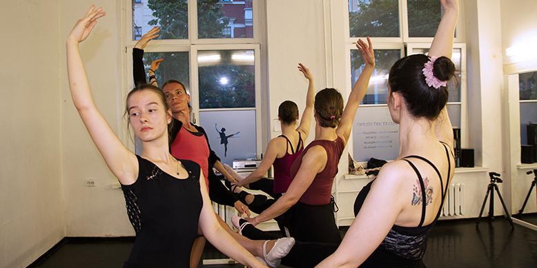 klassisches Ballett an der Stange Stretching Teil3